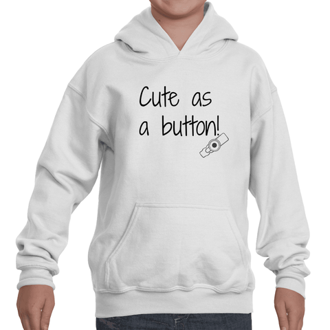 Cute as a Button G Tube Feeding Tube Kids' Youth Hoodie Sweatshirt - Sunshine and Spoons Shop