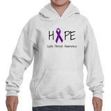 Hope Ribbon for Cystic Fibrosis Awareness Kids' Youth Hoodie Sweatshirt - Sunshine and Spoons Shop