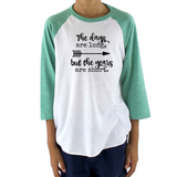 The Days Are Long, But the Years Are Short Kids Raglan Baseball Shirt - Choose Color