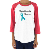 Dysautonomia Warrior POTS Awareness Spoonie Kids Raglan Baseball Shirt - Choose Color - Sunshine and Spoons Shop