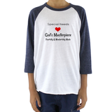 God's Masterpiece, Not Special Needs Kids Raglan Baseball Shirt - Choose Color - Sunshine and Spoons Shop