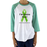 I'm Gluten Free Celiac Disease Kids Raglan Baseball Shirt - Choose Color - Sunshine and Spoons Shop