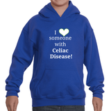 I Love Someone with Celiac Disease Kids' Youth Hoodie Sweatshirt - Choose Color - Sunshine and Spoons Shop