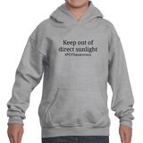 Keep Out Of Direct Sunlight POTS Awareness Kids' Youth Hoodie Sweatshirt - Choose Color