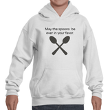 May the Spoons Be Ever in Your Favor Spoonie  Kids' Youth Hoodie Sweatshirt - Choose Color