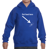 Put Food here G Tube Feeding Tube Kids' Youth Hoodie Sweatshirt - Choose Color