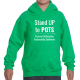 Stand Up to POTS Dysautonomia Awareness Kids' Youth Hoodie Sweatshirt - Choose Color