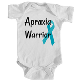 Apraxia Warrior Onesie Bodysuit - Choose Color - Sunshine and Spoons Shop