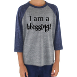 I am a Blessing Special Needs Kids Raglan Baseball Shirt - Choose Color - Sunshine and Spoons Shop
