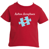 Autism Acceptance Awareness Puzzle Piece Kids' Shirt - Choose Color - Sunshine and Spoons Shop