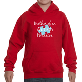 Brother of an Autism Warrior Awareness Puzzle Piece Kids' Youth Hoodie Sweatshirt - Choose Color - Sunshine and Spoons Shop
