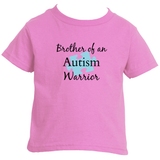 Brother of an Autism Warrior Awareness Puzzle Piece Kids' Shirt - Choose Color - Sunshine and Spoons Shop
