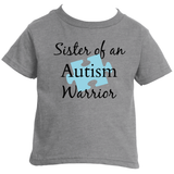 Sister of an Autism Warrior Awareness Puzzle Piece Kids' Shirt - Choose Color - Sunshine and Spoons Shop