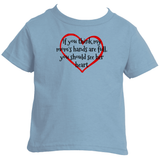 If You Think My Mom's Hands are Full, You Should See Her Heart Kids' Shirt - Choose Color