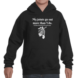 My Joints Go Out More Than I Do Ehlers Danlos EDS Kids' Youth Hoodie Sweatshirt - Choose Color