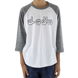 Personalized Sign Language ASL Kids Raglan Baseball Shirt - Choose Color