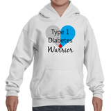 I am a Type 1 Diabetes Warrior T1D Kids' Youth Hoodie Sweatshirt - Choose Shirt - Sunshine and Spoons Shop