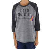 It's Not Contagious! Eczema Awareness Kids Raglan Baseball Shirt