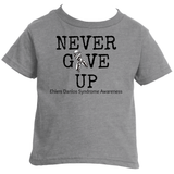 Never Give Up Awareness Ribbon Kids' Shirt - Choose Color