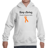 Keep Staring Maybe It'll Grow Back Limb Differences Awareness Kids' Youth Hoodie Sweatshirt