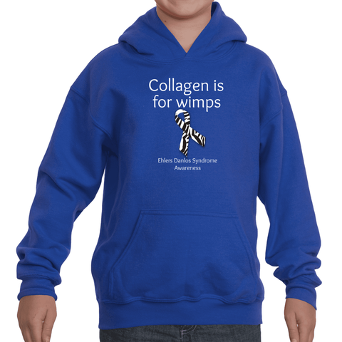 Collagen Is For Wimps Ehlers Danlos EDS Kids' Youth Hoodie Sweatshirt - Choose Color - Sunshine and Spoons Shop