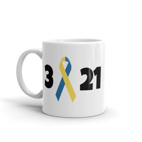 3 21 Down Syndrome Awareness Coffee Tea Mug - Choose Size - Sunshine and Spoons Shop