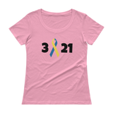 3 21 Down Syndrome Awareness Scoop Neck Women's Shirt - Choose Color - Sunshine and Spoons Shop