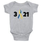 3 21 Down Syndrome Awareness Onesie Bodysuit - Choose Color - Sunshine and Spoons Shop