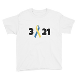 3 21 Down Syndrome Awareness Kids' Shirt - Choose Color - Sunshine and Spoons Shop