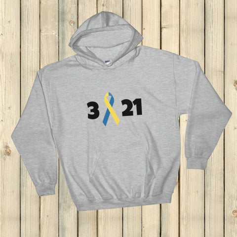 3 21 Down Syndrome Awareness Hoodie Sweatshirt - Choose Color