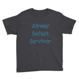 Airway Defect Survivor Tracheomalacia Laryngomalacia Kids' Shirt - Choose Color - Sunshine and Spoons Shop