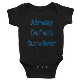 Airway Defect Survivor Tracheomalacia Laryngomalacia Onesie Bodysuit - Choose Color