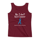 No, I Don't Have Cancer Alopecia Awareness Women's Tank Top - Choose Color - Sunshine and Spoons Shop