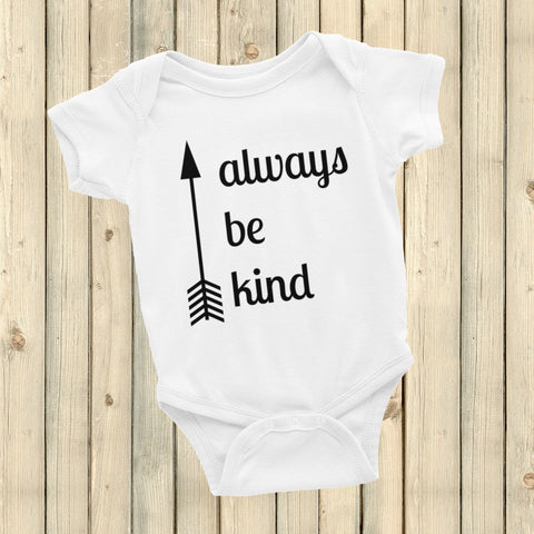 Always Be Kind Arrow Onesie Bodysuit - Choose Color - Sunshine and Spoons Shop