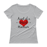 Aunt of a Heart Warrior CHD Heart Defect Scoop Neck Women's Shirt - Choose Color - Sunshine and Spoons Shop