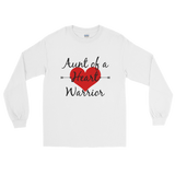 Aunt of a Heart Warrior CHD Heart Defect Unisex Long Sleeved Shirt - Choose Color
