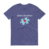 Autism Acceptance Awareness Puzzle Piece Unisex Shirt - Choose Color - Sunshine and Spoons Shop