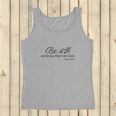 Be Still and Know Semicolon Women's Tank Top - Choose Color