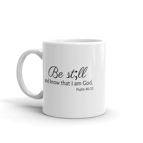 Be Still and Know Semicolon Coffee Tea Mug - Choose Size - Sunshine and Spoons Shop