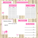 Pink Theme Birthday Memory Book Journal Printable 15 Pages Instant Download - Sunshine and Spoons Shop