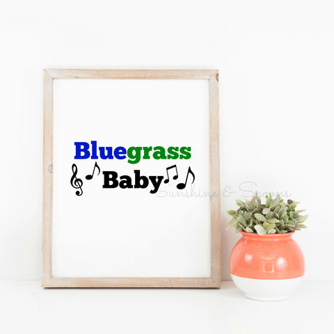Bluegrass Baby Printable Print Art - Sunshine and Spoons Shop