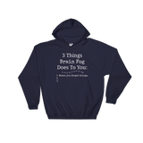 3 Things Brain Fog Does to You Spoonie Hoodie Sweatshirt - Choose Color - Sunshine and Spoons Shop