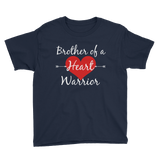 Brother of a Heart Warrior CHD Heart Defect Kids' Shirt - Choose Color - Sunshine and Spoons Shop