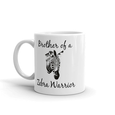 Brother of a Zebra Warrior Rare Disease Ehlers Danlos Coffee Tea Mug - Choose Size