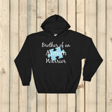 Brother of an Autism Warrior Awareness Puzzle Piece Hoodie Sweatshirt - Choose Color - Sunshine and Spoons Shop