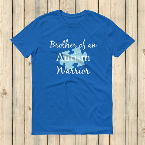 Brother of an Autism Warrior Awareness Puzzle Piece Unisex Shirt - Choose Color - Sunshine and Spoons Shop