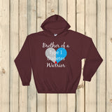 Brother of a Type 1 Diabetes Warrior T1D Hoodie Sweatshirt - Choose Color - Sunshine and Spoons Shop