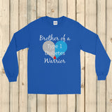 Brother of a Type 1 Diabetes Warrior T1D Unisex Long Sleeved Shirt - Choose Color - Sunshine and Spoons Shop