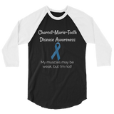Charcot Marie Tooth Disease Awareness 3/4 Sleeve Raglan Unisex Shirt - Choose Color - Sunshine and Spoons Shop