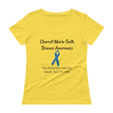 Charcot Marie Tooth Disease Awareness Women's Scoop Neck Shirt - Choose Color - Sunshine and Spoons Shop